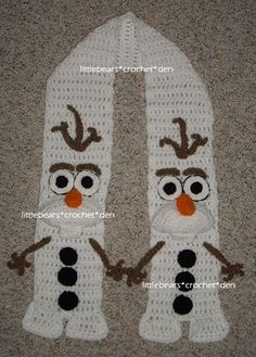 CROCHETED FROZEN OLAF SCARF                                                                                                                                                     More