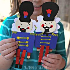 Learn how to make the nutcracker craft using clothespins! It's a fun christmas art project for kids to make.