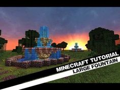 Minecraft Tutorial: How To Build A Large Circular Fountain! ( Jeracraft )