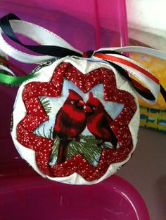 Fabric Ornament by QuiltersPantry on Etsy, $15.00