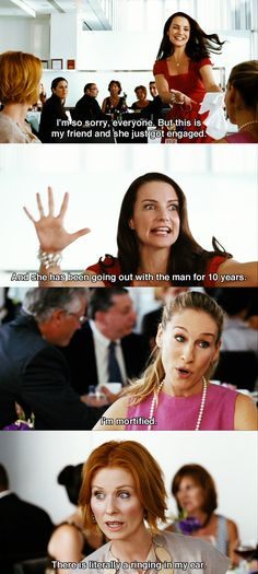 """I'm mortified."" ~ SATC Sex and the City (2008) - Miranda 