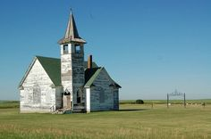 Abandoned Church in Williams County, North Dakota. Tragic waste - I think the building is quite beautiful.