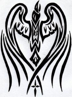 tribal raven tattoo - Google 検索