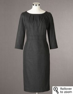 Boden - Chic Wool Dress WQ042 - $198 - Grey and Black