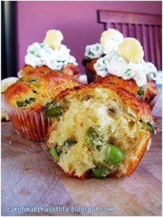 Cupcakes alle fave e grok con yogurt greco