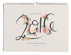 Final reductions on Rifle Paper Co. Calendars at Northlight.  2016 Appointment Calendar designed by Anna Bond.