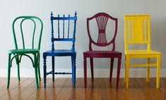cadeira de madeira para jardim coloridas - Pesquisa Google