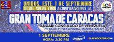 #Venezolanos en #NewYork #USA se unen a #TomaDeCaracas #Venezuela #SOS TOMA DE #CARACAS 1° Septiembre 2016 #Protesta Exigiendo  el #ReferendoRevocatorio al #CNE de ese #País de acuerdo a la #Constitución Vigente en la #República #Suramericana  700_D-2