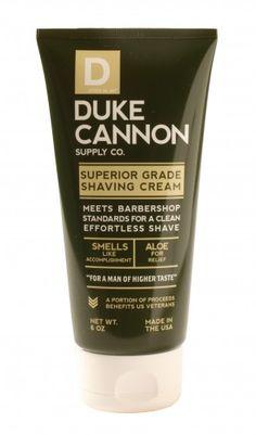 Duke Cannon Superior Grade Shaving Cream. Skin Care for the Men in your life
