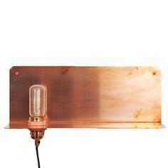 FRAMA 90° COPPER SHELF WALL LIGHT