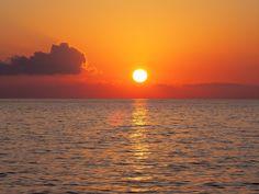 Wakacje, Majówka, Morze Śródziemne, Woda, Zachód Słońca