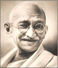 Mahatma Gandhi-One of my spiritual inspirations! He and Dalai Lama are the ones I look up to!