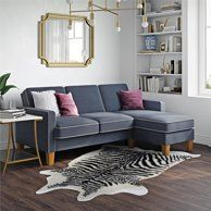 Novogratz Chapman Sectional Sofa With Chrome Legs Gray Gray Walmart Com Sofas For Small Spaces Small Sectional Sofa Sectional Sofa