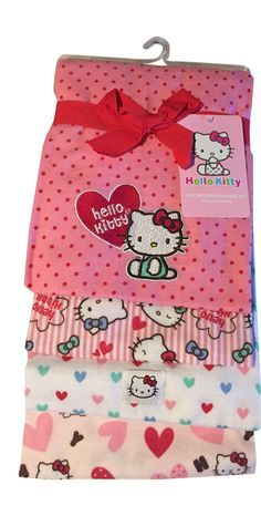 Hello Kitty Receiving Blanket Set 4-pack. Great #Christmas gift for the new mommy in your life.