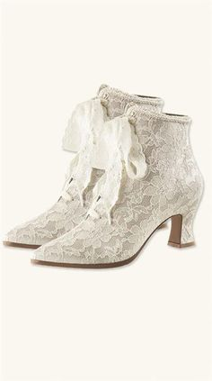 Victorian White Lace Boots - Victorian Trading Co.