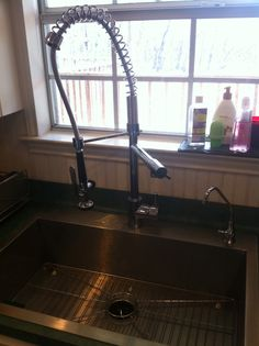 Kraus Pull Out Chrome Kitchen Faucet. Very Sophisticated Looking, And  Functional For Pre