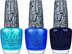 OPI's Blue Shatter Nail Polishes - I own the black, loving the iridescent blue!
