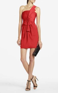 Palais One Shoulder Bcbg Cocktail Dress RedOutlet