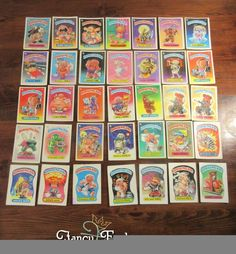 Garbage Pail Kids Including Nasty Nick 1a 1985 Mixed Lot 35 Early Cards Stickers #Topps