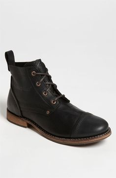 Caterpillar 'Morrison' Cap Toe Boot ($145), finely grained leather, a classic, rugged look set on rubber traction sole. Men's boots at Nordstrom.