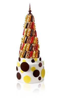 Pyramide d eclairs!! another superb alternative wedding cake now you got to love the work that has gone into this.