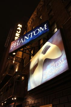 Phantom of the Opera ..Out of all the Broadway shows, Phantom is my favorite