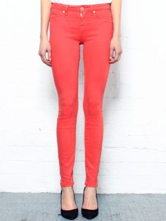Marc by Marc Jacobs - Stick Red Skinny Jeans
