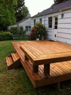 Exterior Building Awesome Deck For Your Backyard: Awesome Square Floating Deck . - Exterior Building Awesome Deck For Your Backyard: Awesome Square Floating Deck 2019 Exterior Bui - Deck Building Plans, Deck Plans, Building Exterior, Backyard Projects, Backyard Patio, Pergola Cost, Pergola Ideas, Patio Ideas, Simple Deck Ideas