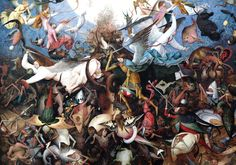 Pieter Bruegel, The Fall of the Rebel Angels, c. 1562, oil on panel.  Musée des Beaux-Arts, Brussels