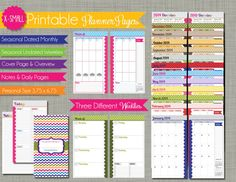 The Polka Dot Posie: NEW X-Small Personal Size Planner Pages for Your Filofax, Daytimer & More!