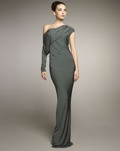 D Cold Shoulder Gown By Donna Karan New York 2040 Via Stylefeed