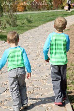 Raglan Shirt for Kids - Free sewing pattern - sizes 18 mo - 6T
