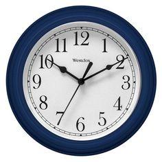 Westclox 9 in. Simplicity Wall Clock Blue - 46985