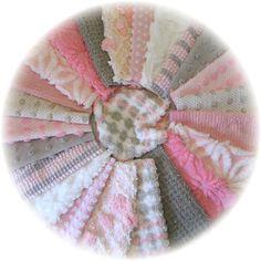 Pink Gray n White ohh la la Vintage Chenille Bedspread by teelady, $25.99
