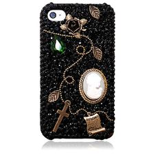 Handmade Vintage Special Design Crystal Rhinestone diamond case cover for iphone5 iphone4 and 4S