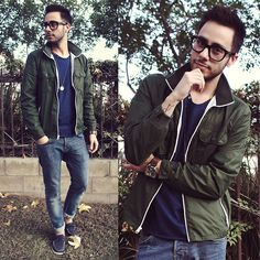 English Laundry Watch, Tom Ford Glasses, Gap Jacket, Silver Jeans Co. Shirt, G Star Raw Necklace, H Jeans, H Boat Shoes