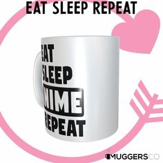 This, Eat Sleep Anime Repeat Coffee Mug makes for a cool funny gift that speaks of a person's passion for Anime. Funny Coffee Mugs, Coffee Humor, Funny Mugs, Funny Gifts, Great Gifts For Women, Great Birthday Gifts, Husband Love, Eat Sleep, White Ceramics