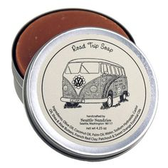 Road Trip Soap - 100% Natural & Handmade, in Reusable Travel Gift Tin by Seattle Sundries