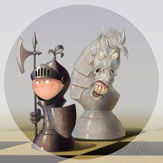 Chess Pieces by Sergei Dzhulay