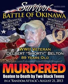 Sickening! This man was killed by blacks. You never hear a word from whinny Sharpton, Jackson or Obama.
