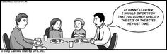 Having representation at the dinner table... #lawyers #humor