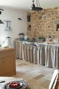 konyhabútorok, egyedi lakások Provence, Kitchens, Stone, Home Decor, Rustic Kitchens, San Miguel, Terrace, Home Decoration, Rock