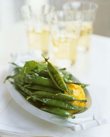 how to cook snap peas in the pod