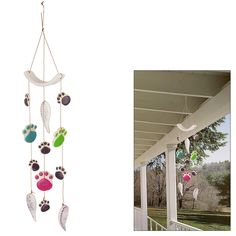 Paw Prints & Angel Wings Ceramic Wind Chime at The Animal Rescue Site