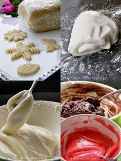 La o masa festiva sau in orice alta ocazie speciala fiecare vrea sa … Marshmallow Fondant, Creme Caramel, Cake Decorating Videos, Pasta, Dessert Recipes, Desserts, Mousse, Icing, Bakery