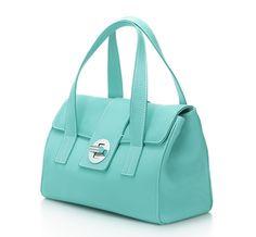 Tiffany & Co.   Item   Manhattan small satchel in Tiffany Blue® leather. Prettiest handbag ever made!