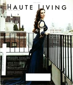 Brooke Shields on the cover of Haute Living