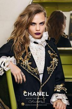 Cara Delevingne Goes Dark for Chanel Ad