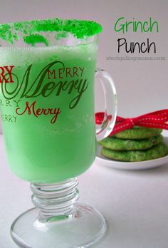 Day 13: Grinch Punch... The perfect accompaniment to this wonderful Christmas movie