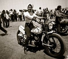 """Patti Waggin: when asked what she wanted for her future she replyed """"four kids -and lots of motorcycles"""""""